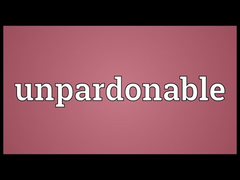 Header of unpardonable