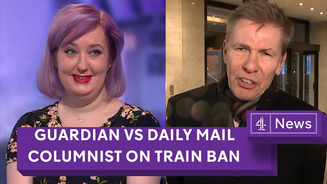 Daily Mail train ban debate: Mail vs the Guardian columnists