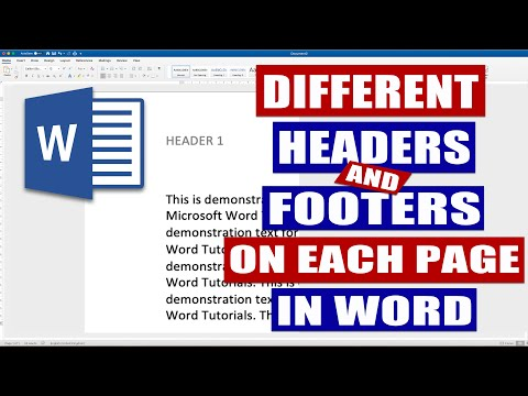 How To Have Different HEADERS In Word | Different Headers On Each Page