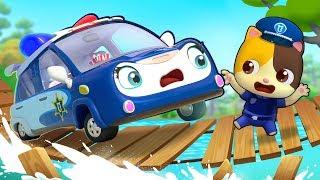 BabyBus | سيارة الشرطة المبتدئة هنا للمساعدة| اغاني وكرتون للاطفال | وسائل المواصلات |بيبي باص