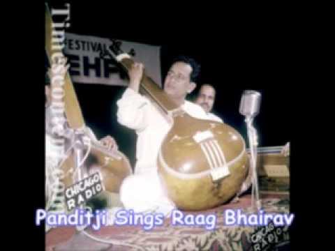 Pandit Bhimsen joshi sings raag bhairav