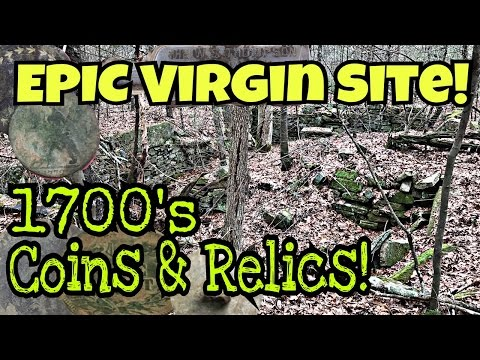 1700's Virgin Homesite Metal Detecting! SICK Finds, Coins Relics! AT Gold Detech Chaser WOW!