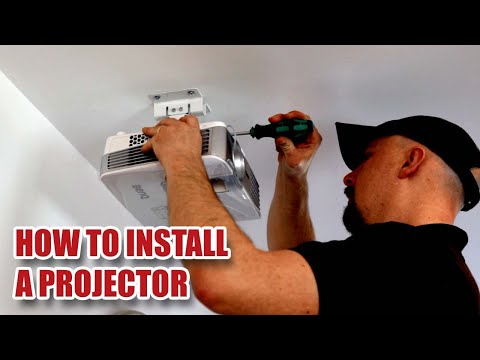 Installing a Projector on a Ceiling - Full Install and Projector Set-up [49]