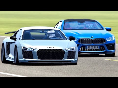 BMW M8 2020 Vs Audi R8 V10 - Top Gear Track