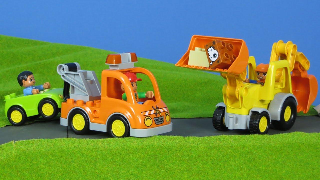 bagger abschleppwagen lastwagen f r kinder von lego. Black Bedroom Furniture Sets. Home Design Ideas