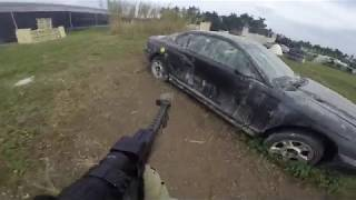 battle town montage with airsoft injury at end