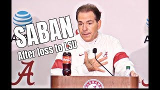 Nick Saban Press Conference after 46-41 loss to LSU