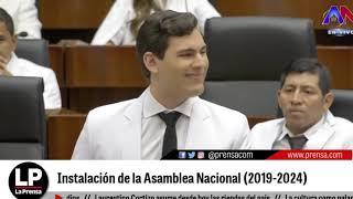 Palabras del diputado Juan Diego Vásquez durante la instalación de la AN