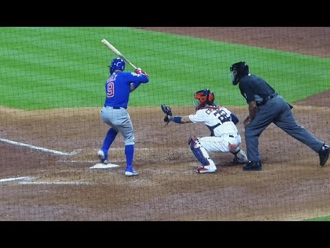 Javier Baez At Bat (base Hit) And On Base...Cubs Vs. Astros...5/29/19