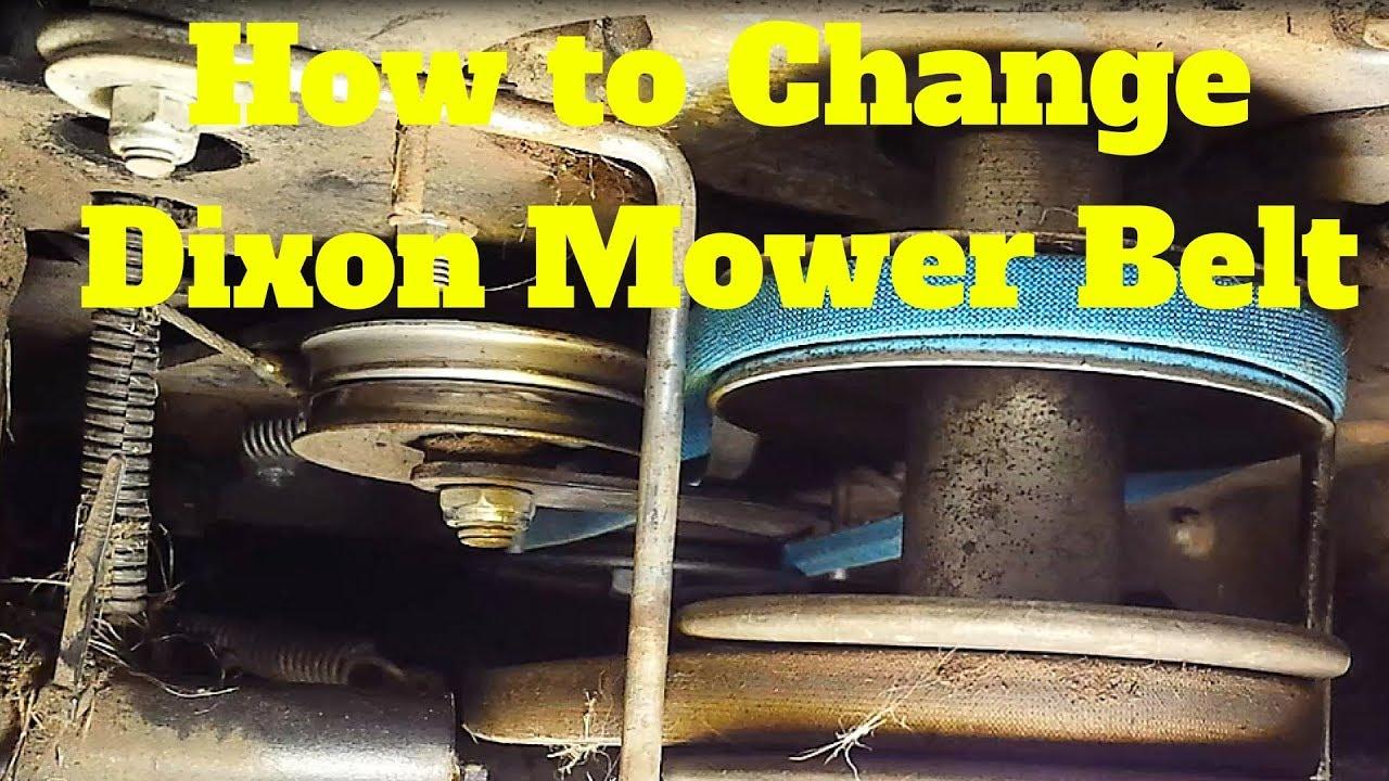 how to change your riding lawn mower belt dixon  [ 1280 x 720 Pixel ]