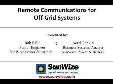 Introduction to Remote Monitoring for Off Grid Solar Systems
