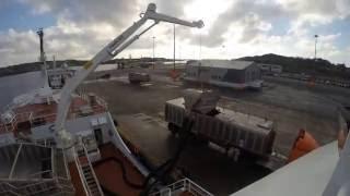 Danish Fishing Trawler Catteya E349 Unloading in Killybegs - Time Elapse