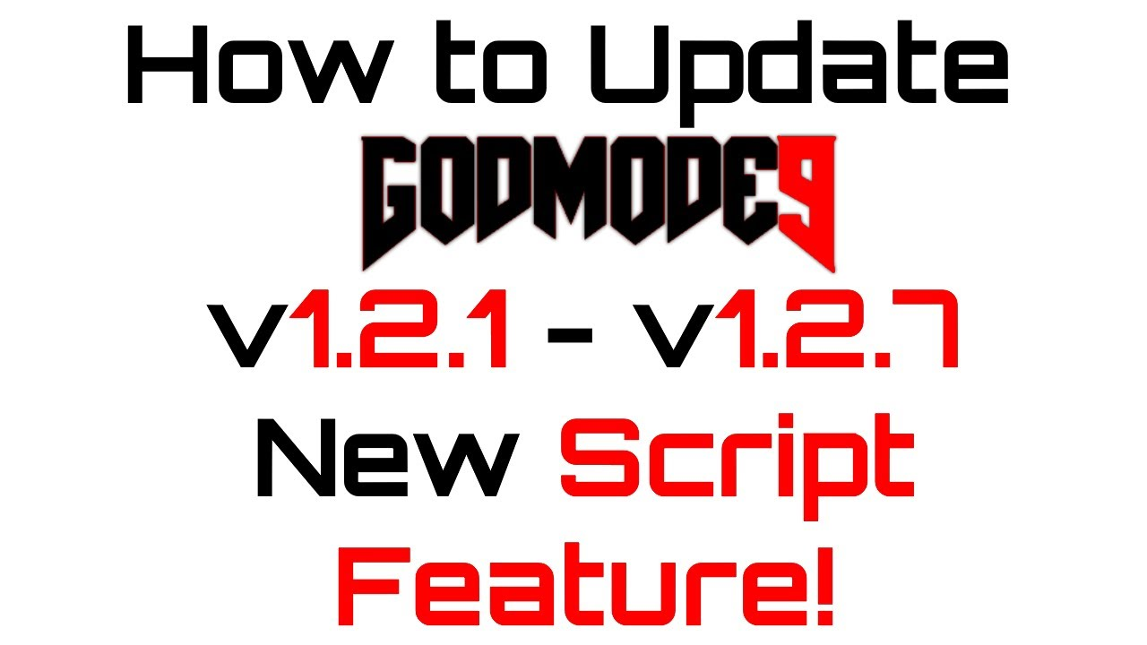 How To Update Godmode9 - v1 2 1 to v1 2 7 - New Scripting Feature =  Automate GM9 Processes