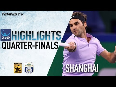 Highlights Federer And Nadal Advance Into SF's In Shanghai