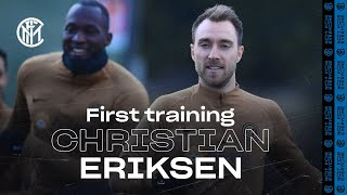 CHRISTIAN ERIKSEN'S FIRST TRAINING SESSION AT INTER! | #WelcomeChristian