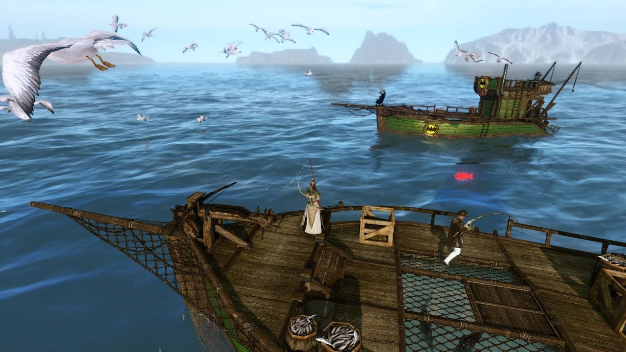 Building a fishing boat in archeage youtube for Build fishing boat
