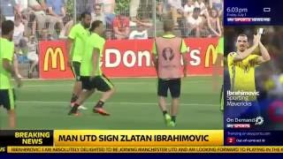 Sky Sports Official - Zlatan Signs for Manchester United