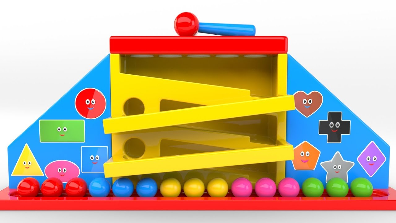 Learn Colors With Wooden Hammer Educational Toys Colors