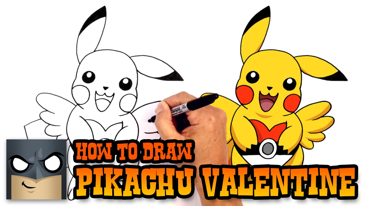 How to Draw Pikachu Valentine | Pokemon Art Tutorial - YouTube