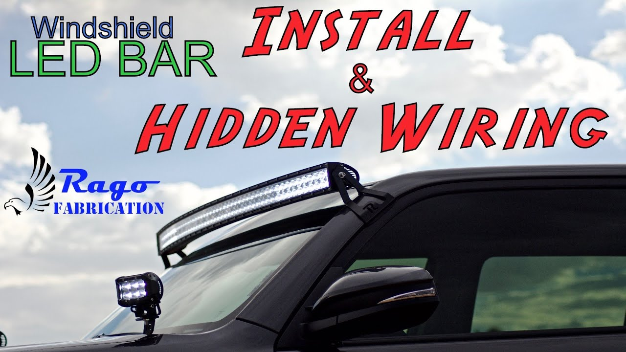 2016 4runner 50 curved windshield led bar install and hidden wiring [ 1280 x 720 Pixel ]