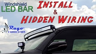 "2016 4runner - 50"" Curved Windshield Led Bar Install And Hidden Wiring"