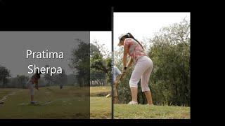Pratima Sherpa Golf Swing Analysis - Iron / Driver
