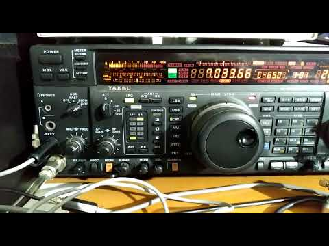 I2PHD mi manda un filmato dello stralcio del QSO tra me (ik2tkx) e M0NPT Abdel in Nottingham UK