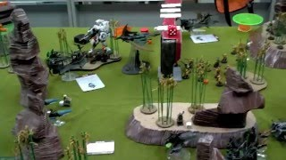 7th Ed Warhammer 40k Battle Report Tau vs Dark Eldar 1500pts