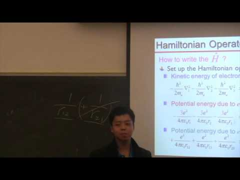 Multi-electron Schrödinger equation  Hartree-Fock Method  Term Symbols   Hund's rules