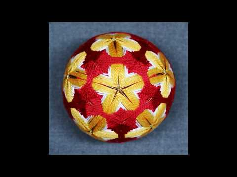 One Minute In Studio With Temari Pentagons & Triangles At The Illustrated Egg