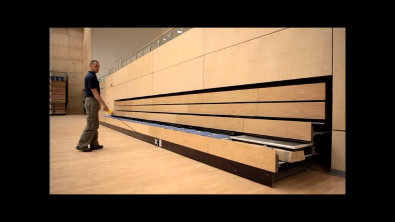 Recessed Retractable Seating System Youtube