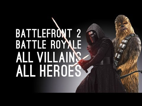 Battlefront 2: ALL VILLAINS vs ALL HEROES Battle Royale - WHO SURVIVES?