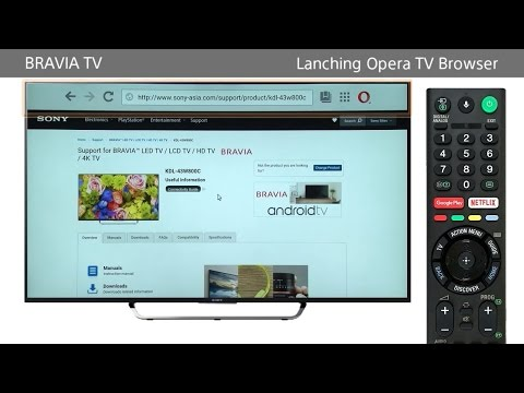 Sony BRAVIA - How to use the Internet Browser (Opera TV Browser) on BRAVIA TV