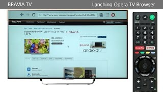 Sony BRAVIA - How to use the Internet Browser (Opera TV Brow...