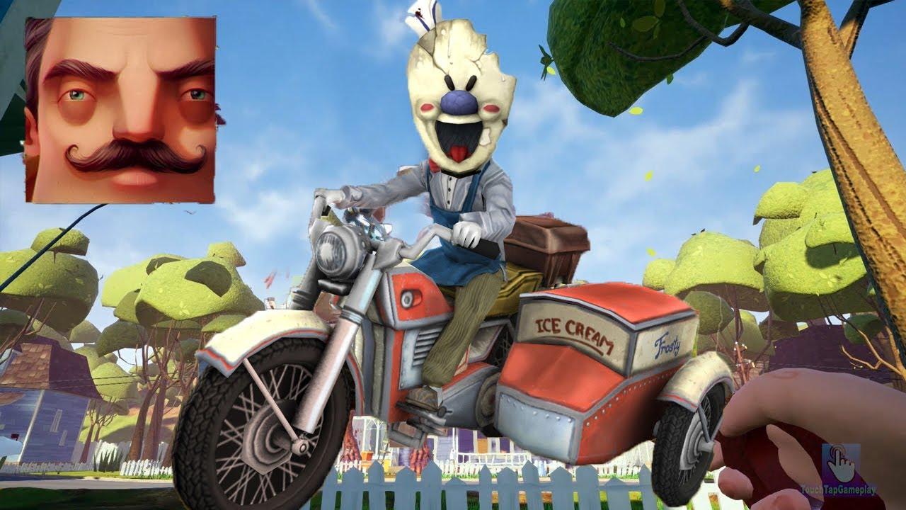 Hello Neighbor - New Neighbor Ice Scream 4 Rod's Motorbike History Gameplay Walkthrough