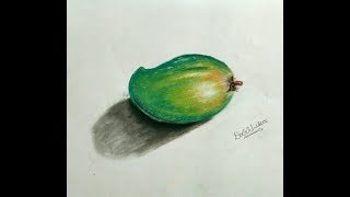 Learn How to Draw Realistic 3D Mango Dry pastel