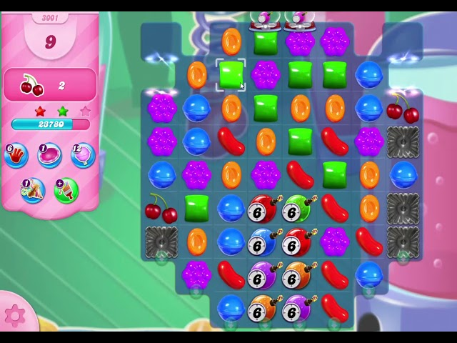 Candy Crush Saga Level 3001 NO BOOSTERS