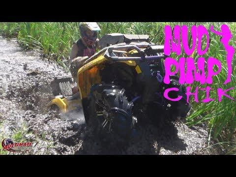 mud tech arctic cat vs outlander mud bog tall pines atv park farm