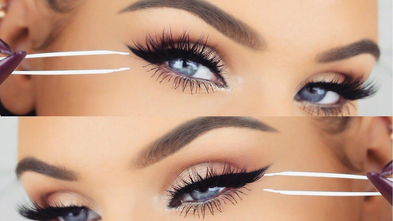 How To Apply False Eyelashes Lashes Makeup Tutorial Youtube