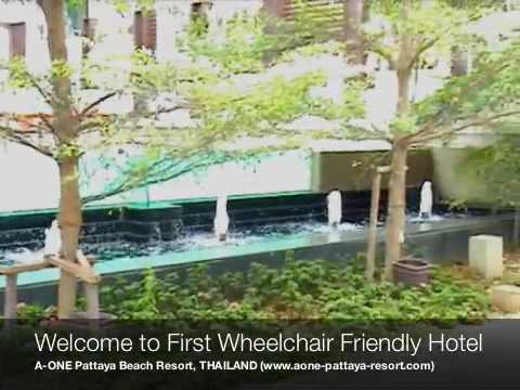 A-ONE Pattaya Beach Resort, First Wheelchair Friendly Hotel in PATTAYA, THAILAND