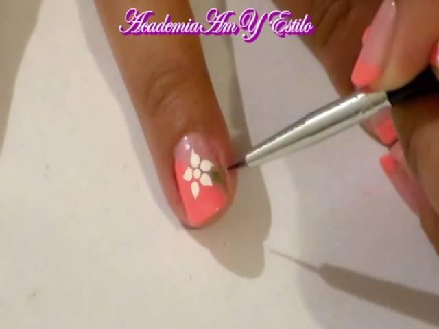 Manicure Con Flor Como Hacer Una Flor En Las Uñas Tuto Nail Art Flower Amy Estilo Acamye Youtube