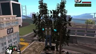 Конверт дерева и АЗС из Flat Out 2 для Gta San Andreas