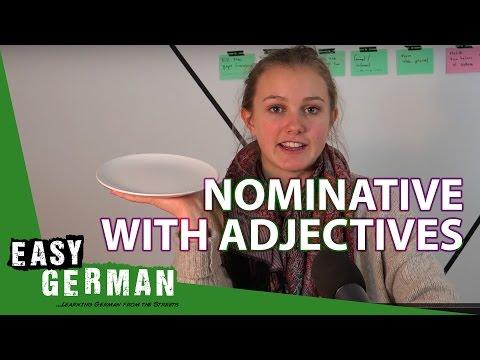 Tiếng Đức bài 11: Nominative với tính từ phần 2