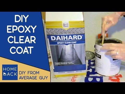 Epoxy clear coat on bathroom floor - DaiHard Epoxy