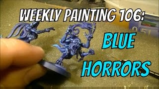 Weekly Painting 106: Blue Horror