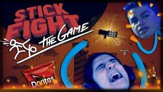 Jogando Stick Fight: The Game -  UPDATE DA LAVA, DORITOS, E BURACOS NEGROS!!!