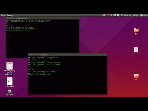 Chatting In Terminal Using Netcat/nc