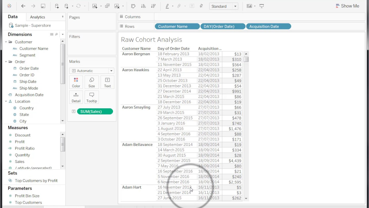 Creating A Year Over Year Ytd Comparison Tableau Software
