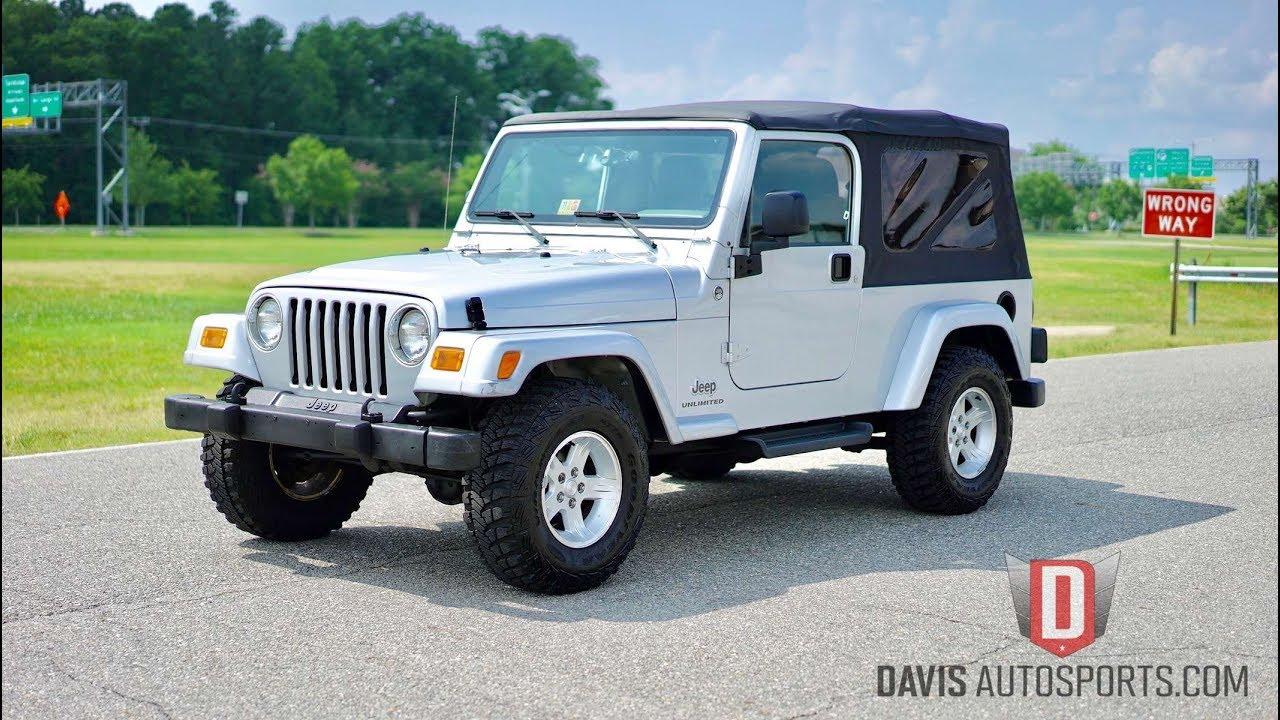 2005 jeep wrangler lj hardtop for sale - Davis Autosports 2005 Jeep Wrangler Unlimited Lj For Sale