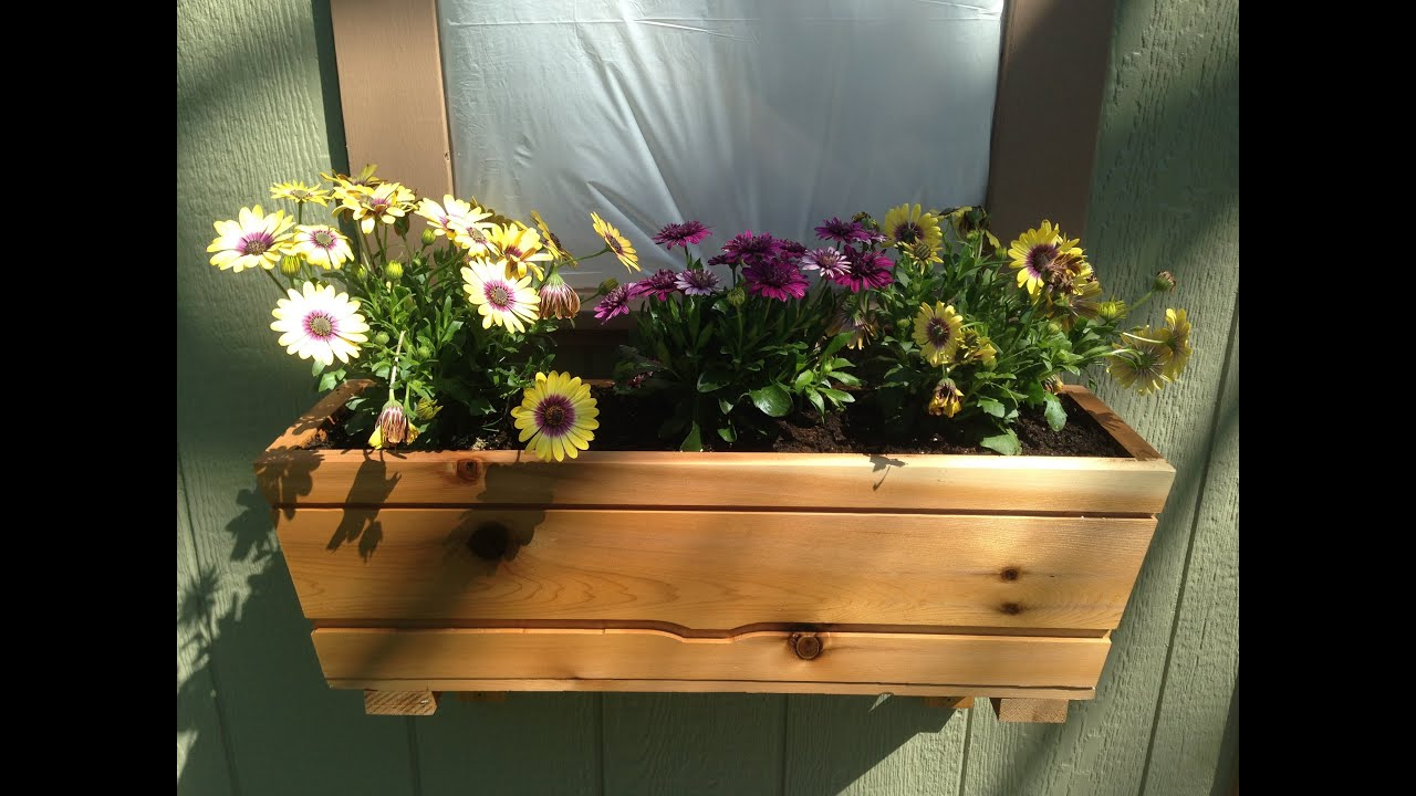 planter diy box tall ana white planters cedar projects